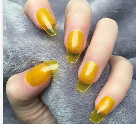 Las uñas de gelatina son moda